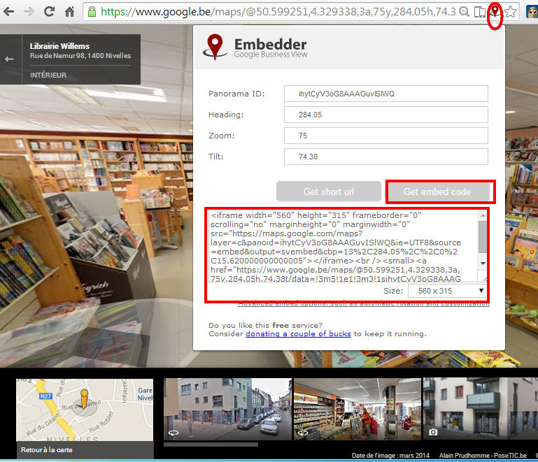 Clic Embedder for Google Business view
