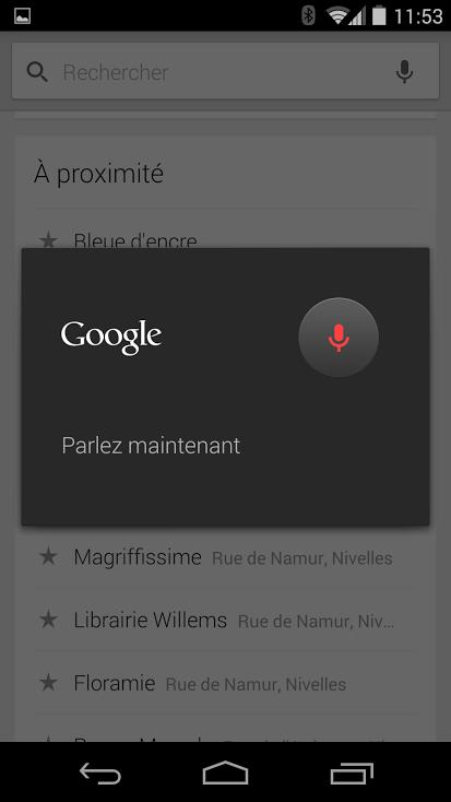 recherche vocale Google Maps