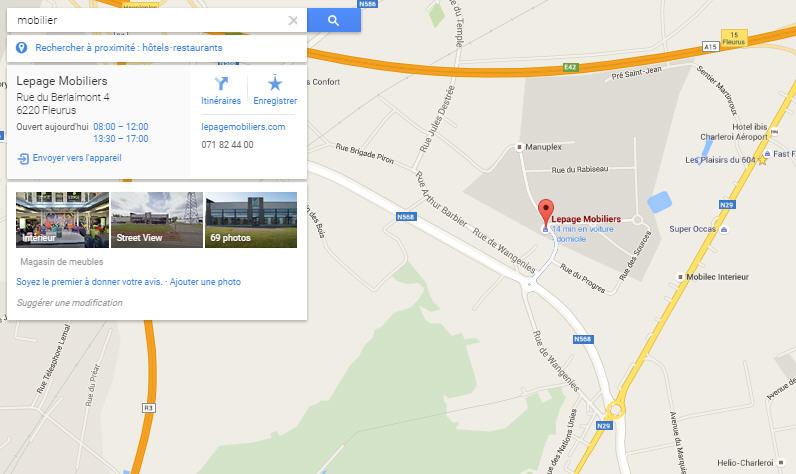GoogleMaps2 mobilier