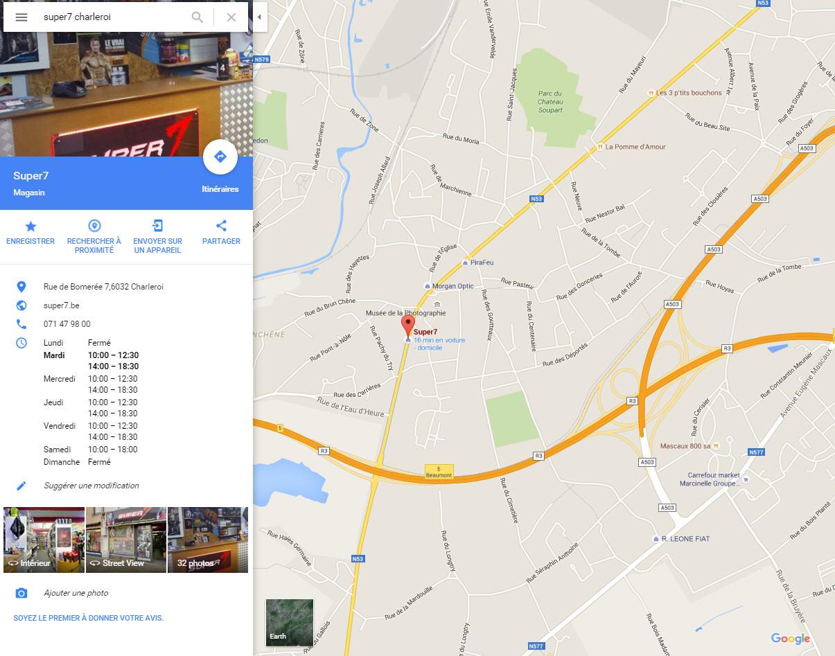Visuel Google Maps avec une visite virtuelle