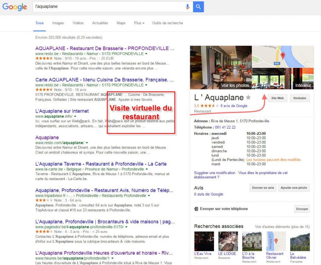 L'Aquaplane visuel Google search - recherche