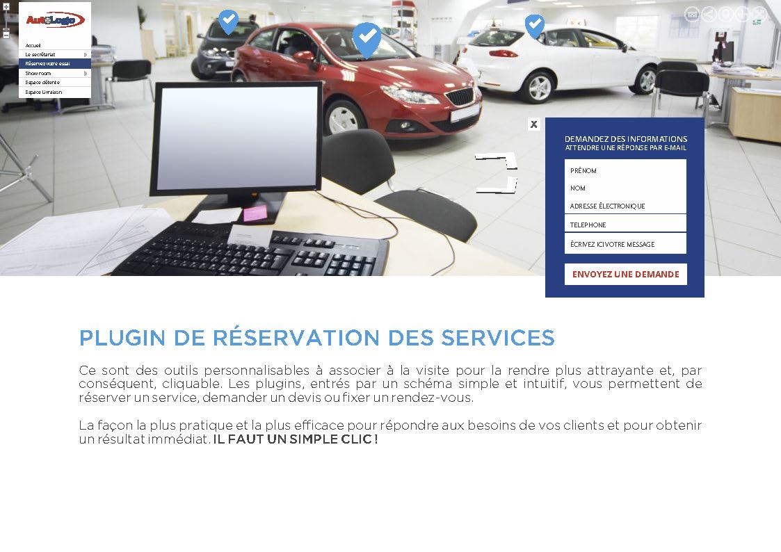 Outils de personnalisation de réservation des services