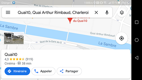 Quai10 screen1 Gmaps