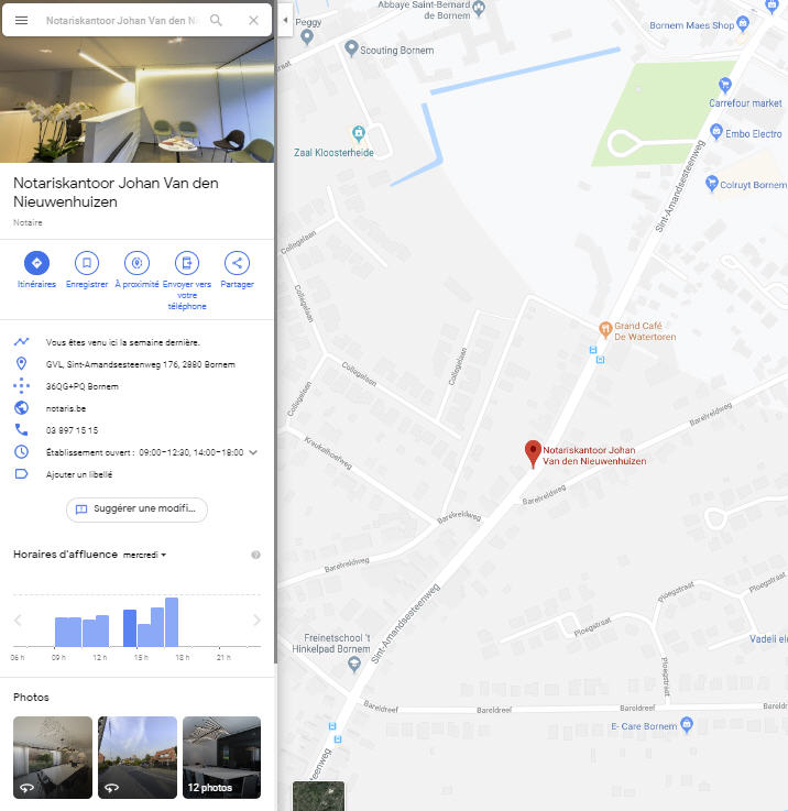 Notaire Google Maps
