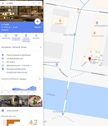 La Table Google Maps 500px
