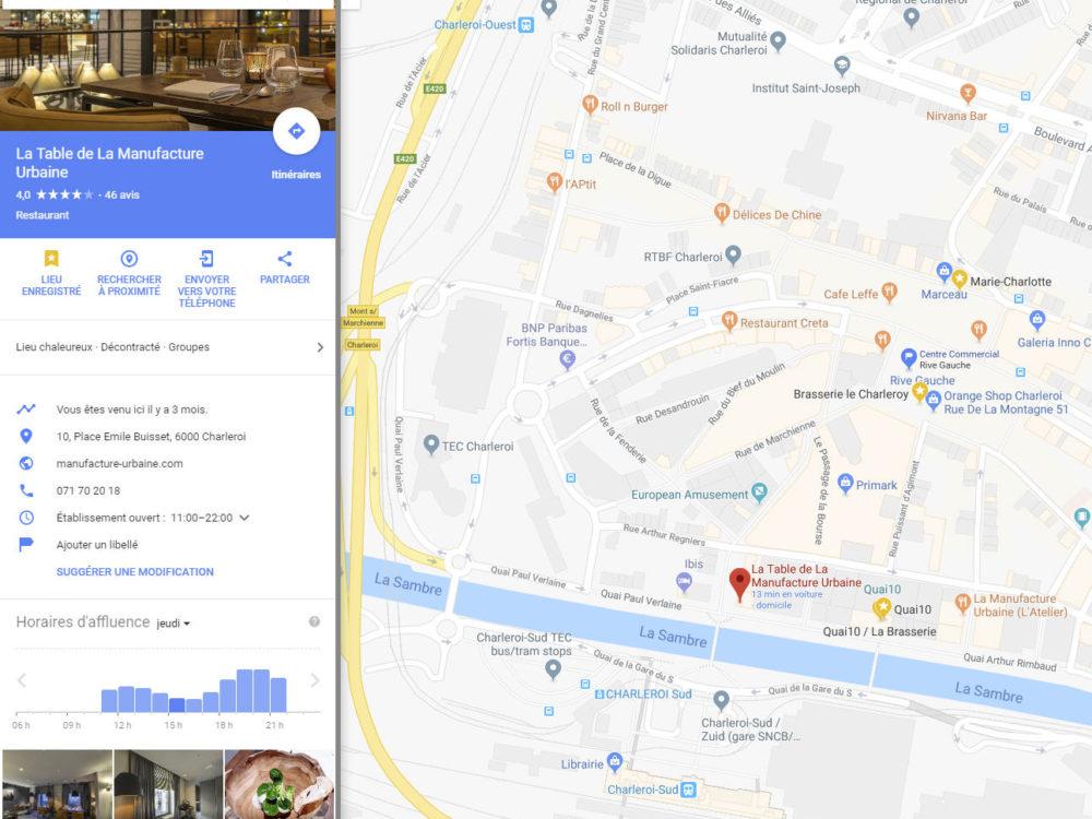 La Table Google Maps2